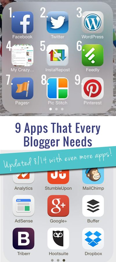 Must Have Apps For Bloggers