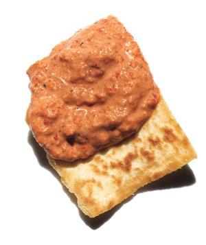 red pepper walnut tahini dip